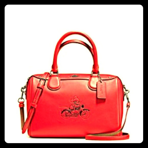 COPY - Coachxdisney mickey satchel in red